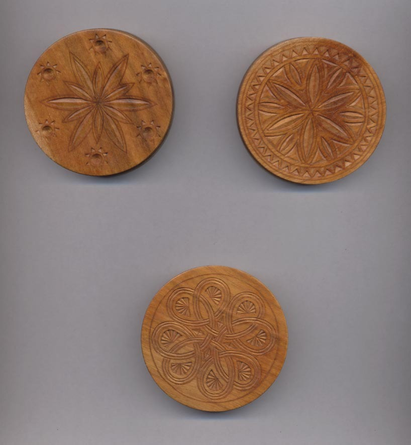 Diverses roues de Boha sculptées /COMDT