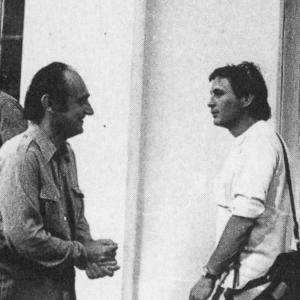 [André Benedetto et Robert Lafont aux Rencontres Occitanes d'Avignon] / photographie de Frances Ashley